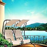 2 Person Outdoor Swing Seat Patio Hammock Furniture Bench Yard W/Canopy US L3U7 ;#by:losmee