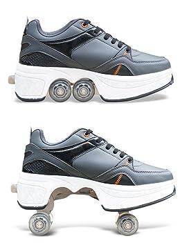 e46475920cc3ad HDCM Chaussures Multi-Usage 2-en-1, Chaussures de Sport, Patins à ...