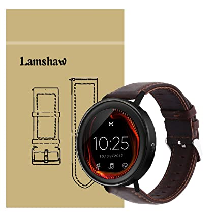 for Misfit Vapor Band, Lamshaw Crazy Leather Strap Replacement Bands for Misfit Vapor Smartwatch (Crazy-Coffee)