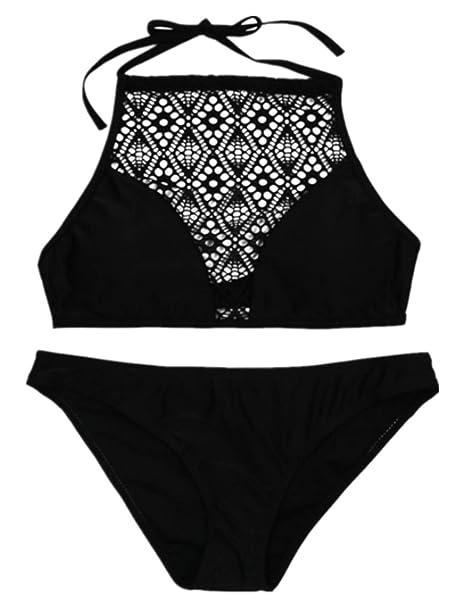 Neckholder Bikini elegant Strand Sommer trendy Swimwear Bademode Beachwear Größe