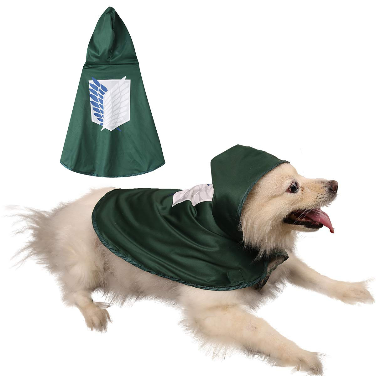 Impoosy Pet Dog Cartoon Christmas Costume Cat Puppy Anime Xmas Cloak Cute  Cosplay Cape for Small to Large Dogs Cats Pets Accessories