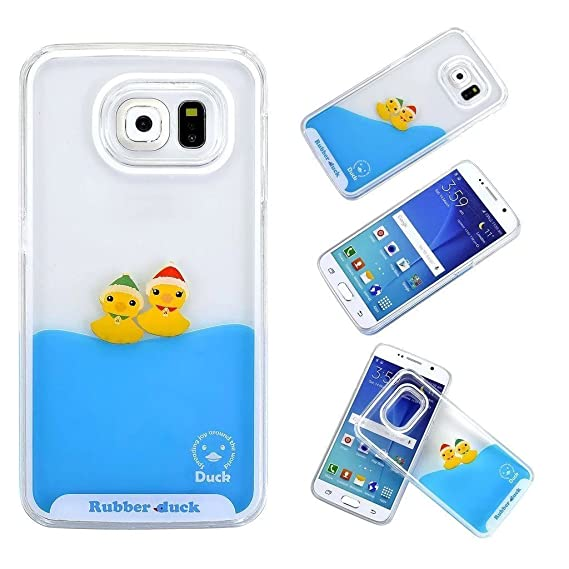 finest selection 276cb 4a016 Amazon.com: For Galaxy S8 Liquid Case, QKKE [ Duck Swimming Series ...