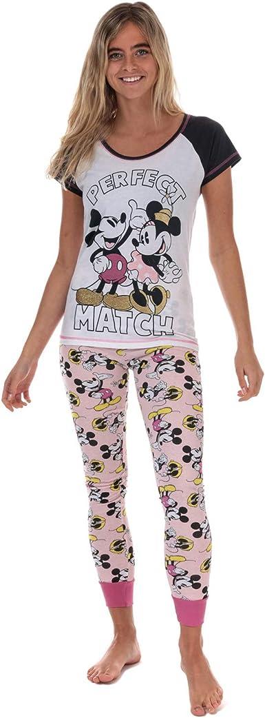 Disney Pijama Minnie y Mickey para mujer en blanco