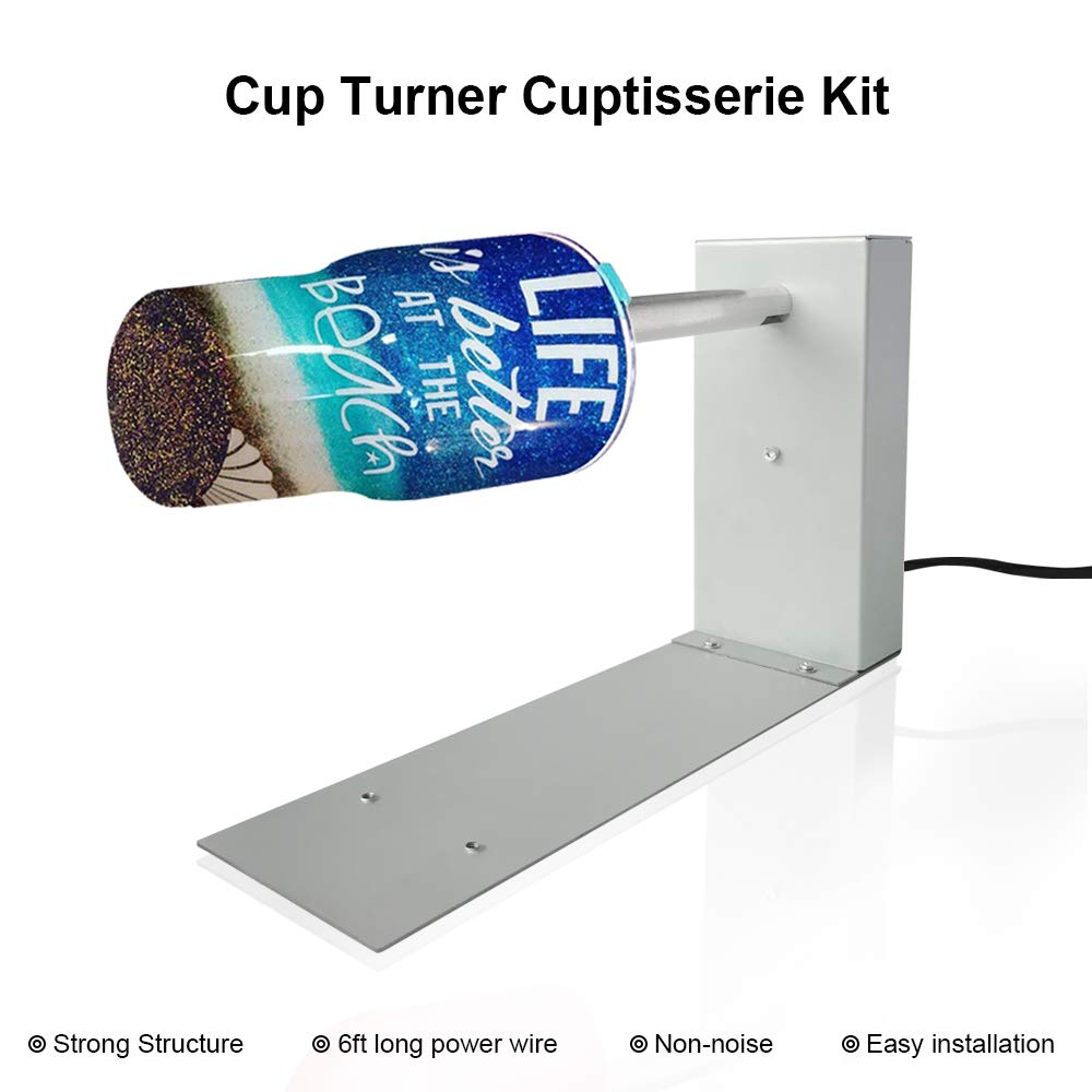 Crafts Cuptisserie Epoxy Glitter Tumbler Plus Extras 2 Single Cup Turners