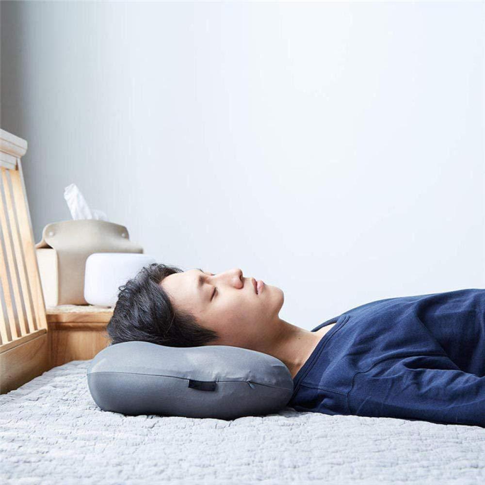 Cuscini per Il Collo Dipendenza da Sonno Profondo 3D Cuscino Ergonomico Copertura in Federa Lavabile in Poliestere con Micro Airball Riempimento,A