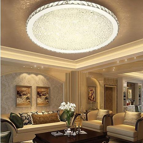 Amazon.com: Ladiqi - Lámpara de techo redonda LED de cristal ...