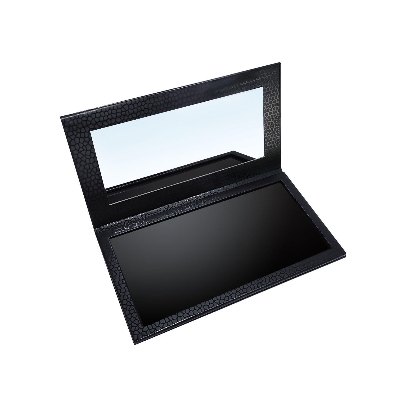 Allwon アイシャドウマグネット空のメイクアッププレートメイクアッププレートメイクミラーブラックの多機能パレット B07BPP9L39