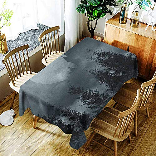 AndyTours Tablecloth for Kids/Childrens,Halloween,Party Decorations Table Cover Cloth,W54x90L Grey Pale Grey -