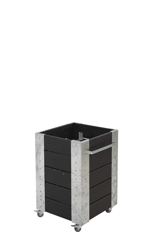 Plus Hochbeet Fahrbar Auf Rollen Stahlecken Schwarz 46x50x70 Cm Als