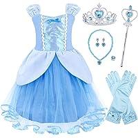 AmzBarley Vestido Niña Princesa Tutu Disfraz Cumpleaños Carnaval Traje Princesa Niña Fiesta Halloween Navidad Cosplay