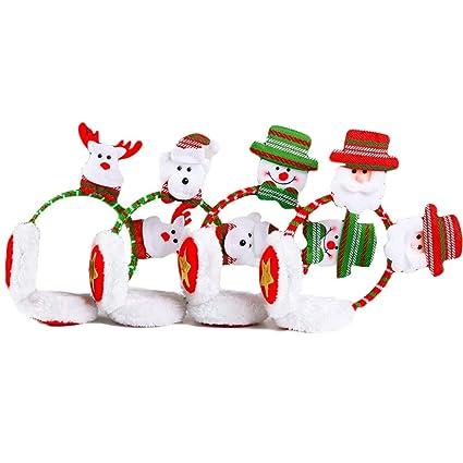 Regali Di Natale Per Adulti.Zhangcaiyun Earmuffs Decorazioni Di Natale Giocattoli Regali