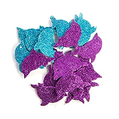 Creative Hands Glitter Foam Stickers, Fish and Dolphin: Home & Kitchen