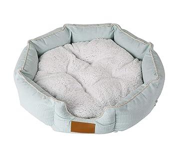 NKLD Accesorios para Mascotas: Cama Redonda Octagonal para Mascotas, sofá para Perros/Gatos, Perrera Lavable extraíble, cálida para el Invierno, ...