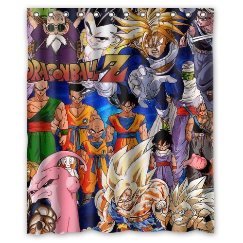 Bestselling The Dragon Ball Z Style Classical Nice Best Decor Bath Room Custom Shower Curtain 60x72