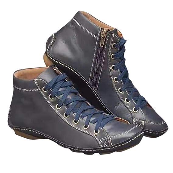 MYMYG Frauen ethnischen Stil Stiefel handgenäht Blumen Schuhe Leder Retro Stiefel Klassische Freizeitschuhe Kurzschaft Wildleder Stiefel Casual Ankle