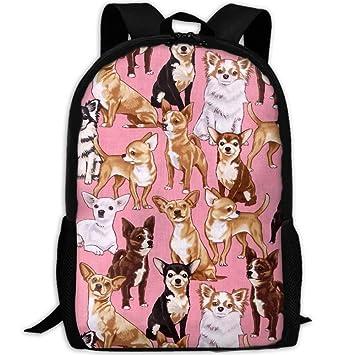 91e891145ae2 Amazon.com: ESA-loving Chiwawas Dog Pink Stylish Laptop Backpack ...