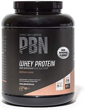 PBN Premium Body Nutrition Proteína de suero de leche en polvo, 2.27 kg, sabor chocolate, sabor optimizado