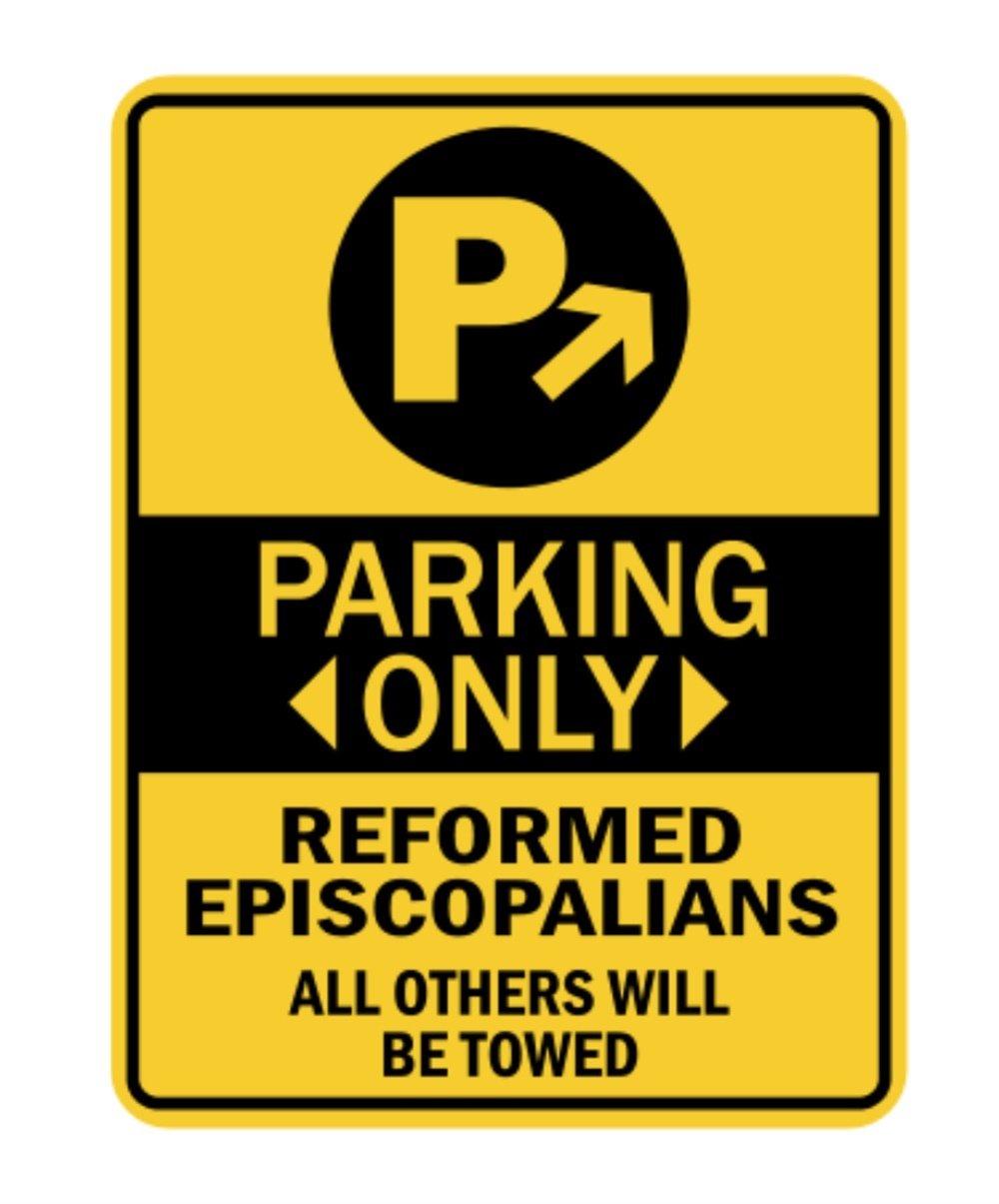 Idakoos – 駐車場のみReformed Episcopal教会サイン – 宗教 – 駐車場サイン   B01N9XP5LS