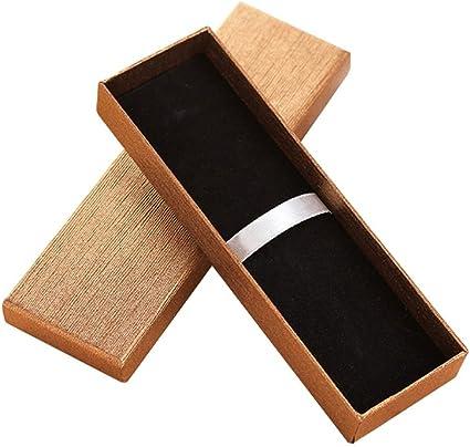 Zhi Jin - Juego de 5 bolígrafos de joyería exquisita caja de regalo con cojín, estuche vacío, colección a granel para aniversario de negocios, color dorado: Amazon.es: Oficina y papelería