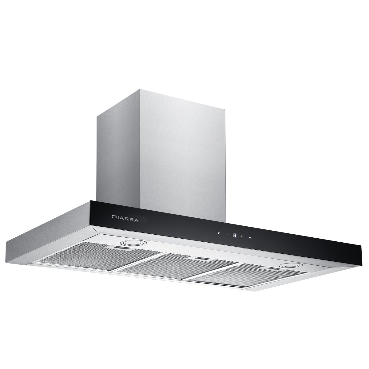 CIARRA 90cm Stainless Steel Touch Control Chimney Cooker Hood Range Hood Kitchen Extractor Fan [Energy Class C]