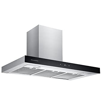 CIARRA 90cm Stainless Steel Touch Control Chimney Cooker Hood Range Hood  Kitchen Extractor Fan