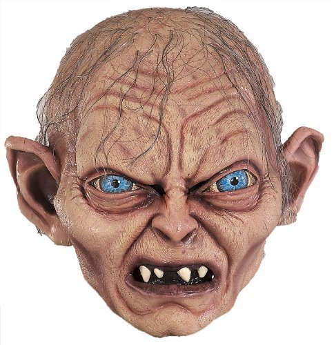 Rings Gollum Mask - Gollum Smeagol Lord Rings Mask Halloween Mask by Halloween FX