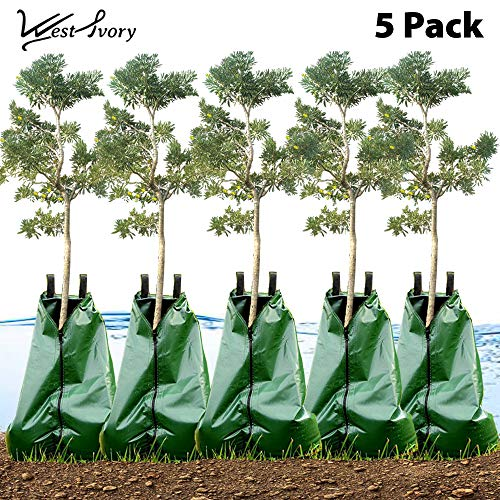 West Ivory Slow Release Automatic Drip Irrigation 15 Gallon Tree Watering Bag 5pk