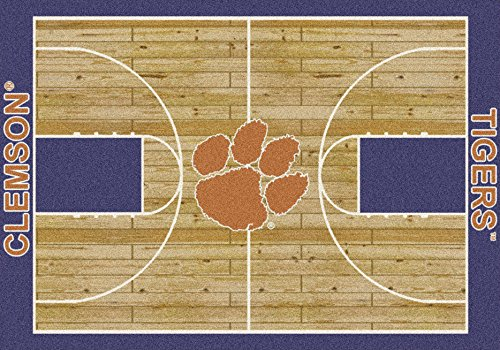 Milliken Clemson Tigers Basketball Home Court Area Rug (5'4