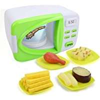 DricRoda Toy Microwave,Kids Microwave Playset,Toy Microwave Kids Play Kitchen Just Like Home Microwave Kids Oven Fun Toys, Nice for Girls and Boys