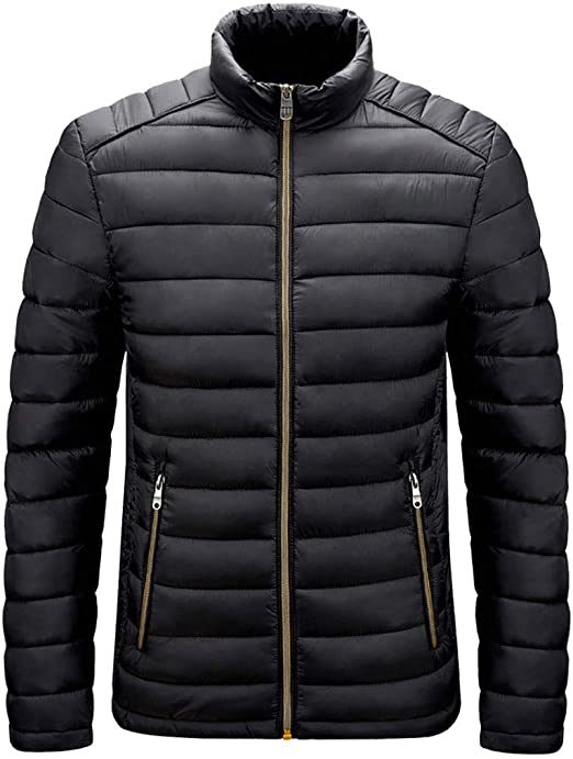 メンズダウンジャケット、メンズパッドジャケット、防水フグジャケット、断熱、暖かい冬のコート