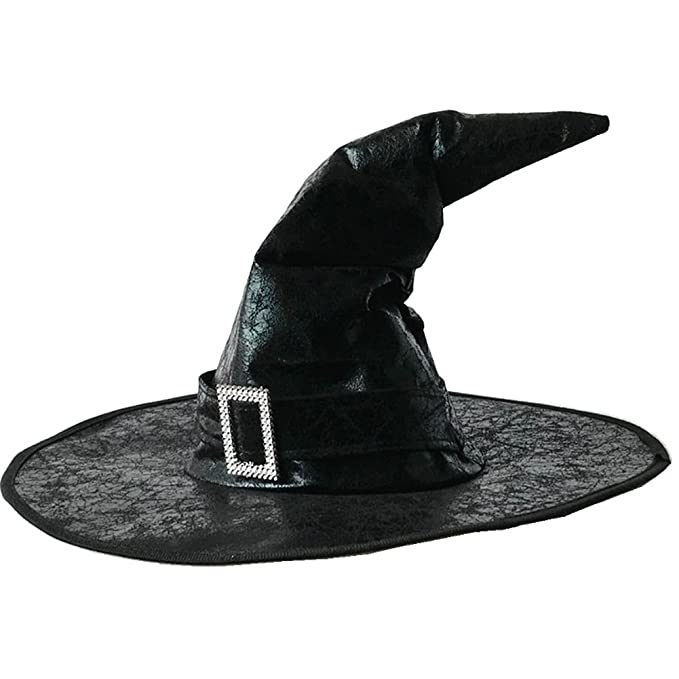 amazoncom ovov bent horns wizard hat leather cloak hat halloween props costume accessory black clothing