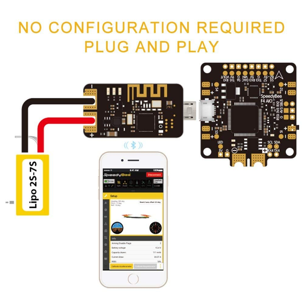 nidici Speedy Bee Bluetooth USB Adapter Betaflight Convenient Mobile Ground Station Supported iOS and Android for FPV Drone Flight Controller by Speedy Bee (Image #5)