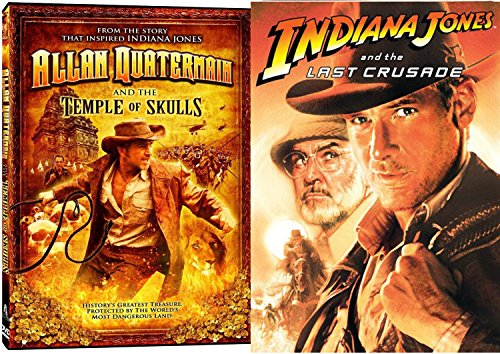 Indiana Jones Crystal Temple (Indiana Jones & The Last Crusade Special Edition & Allan Quatermain and the Temple of Skulls DVD Lost Special Adventure Set)