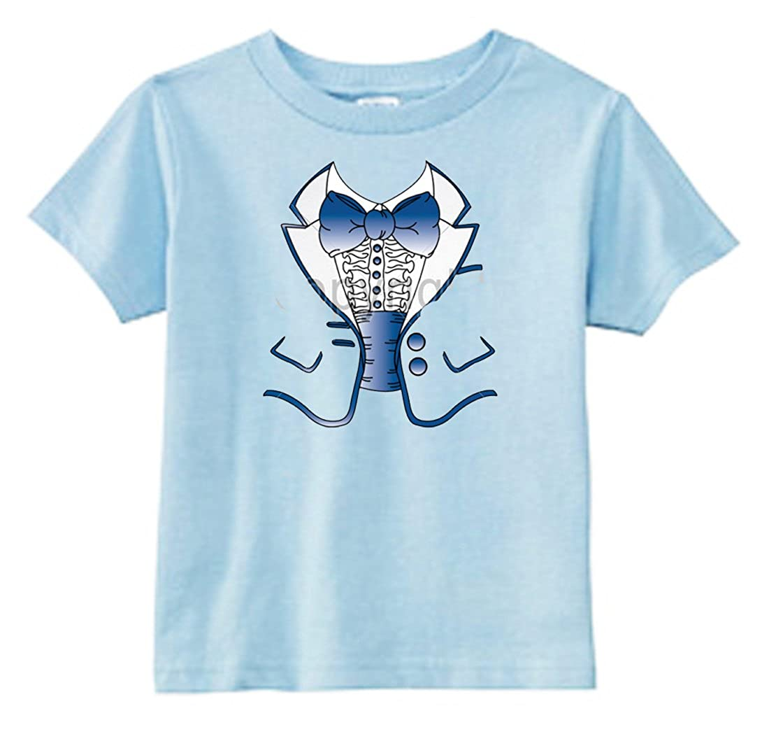 U.S Custom Kids Blue Tuxedo Toddler T-Shirt