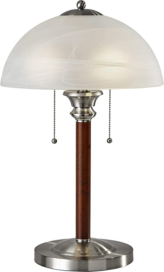 Adesso 4050 15 Lexington 22 5 Table Lamp Lighting Fixture With Walnut Wood Body Smart Switch Compatible Lamp Home Improvement Equipment Pull Chain Lamp Amazon Com