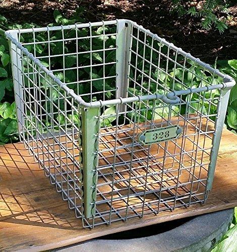 vintage locker wire basket - 2