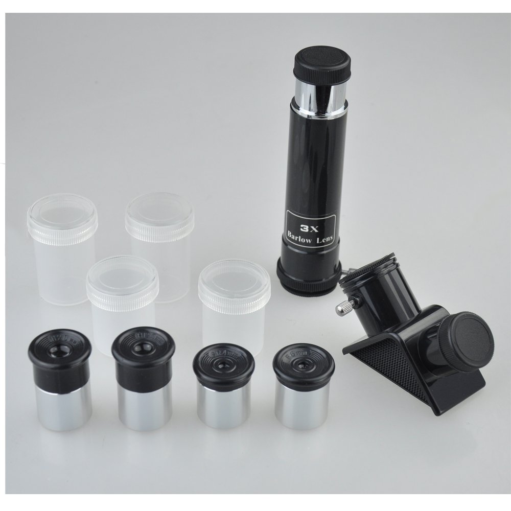 Gosky 0.965Inch Telescope Accessory Kit for 0.965 Telescope - With Four Eyepieces, one Diagonal, a 3x Barlow Lens QHTE0101