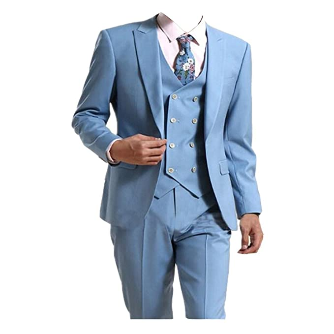 TPSAADE - Traje - para Hombre Azul Claro 56: Amazon.es: Ropa ...