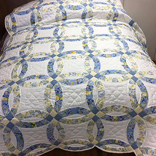Handmade Hand-quilted Amish Quilt King/Queen - Double Weddin