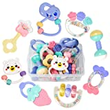 Amazon Price History for:Tumama 8pcs Baby Rattles Teethers Set, Grab Toys, Shaking Bell Rattle Set with Storage Box for Infant, Newborn Baby, Toddler, Candy Colors