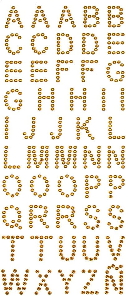 Diamante Letters Birthday Card Decoration Stick On Letter Embellishment