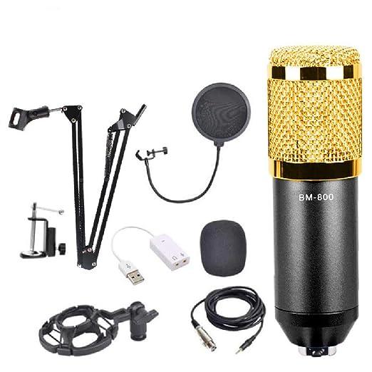 YEE Kit Micrófono Condensador con Tarjeta de Sonido Soporte de ...