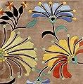 ZnZ Rugs Gallery 9071-8FT Sq Handmade New Zealand Blend Square Wool Rug, 8-Feet, Dark Beige