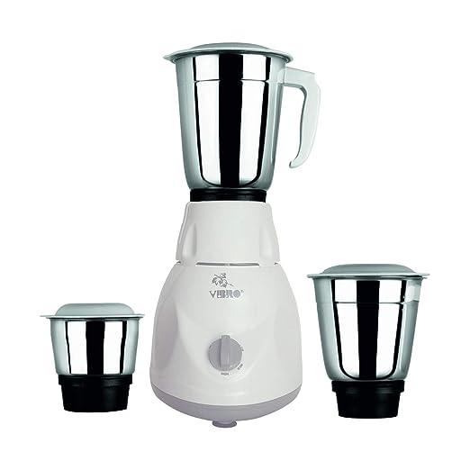 VIBRO Mixer Grinder, 500W, 3 Jars  White