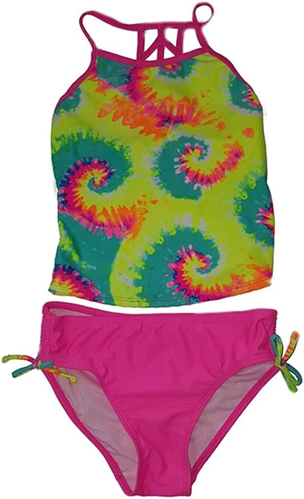 L-12 Girls SO Tie-Dye 2 Piece Halterkini Top Bikini Bottom