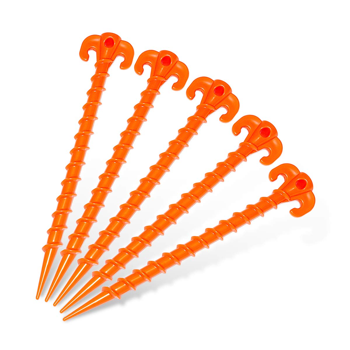Hikemax plastic spiral camping stakes