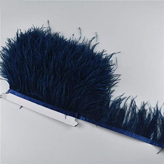 SHFives 1M 5M 10Meter 8-10CM Adornos de Plumas de Avestruz Azul ...