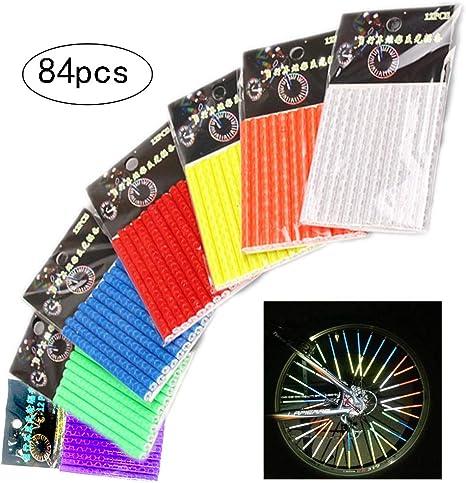 inherited 84 pzas (7 Colores) Bicicleta Reflectante habló Clips de ...