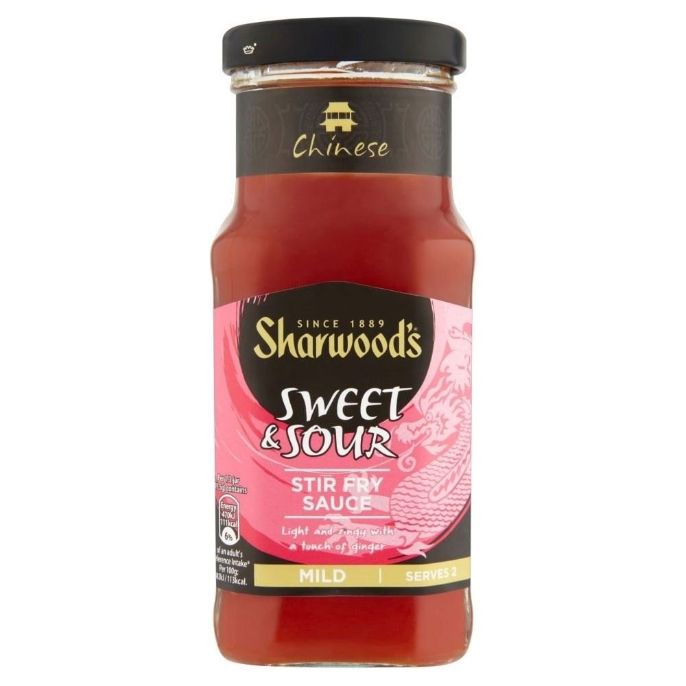 Sharwood's Stir Fry Sauce - Sweet & Sour (195g) - Pack of 2