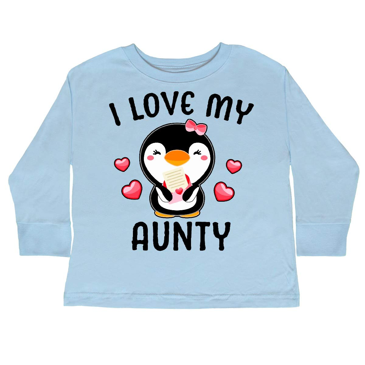 inktastic I Love My Aunty with Cute Penguin and Toddler Long Sleeve T-Shirt